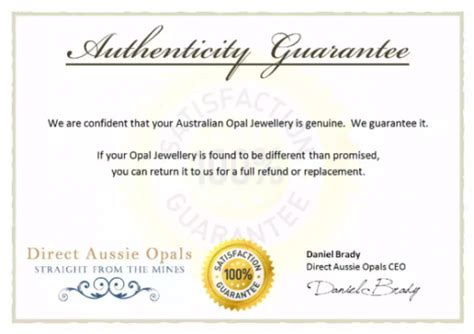 Guarantee Card Template by 5 Printable Certificate Of Authenticity Templates Doc