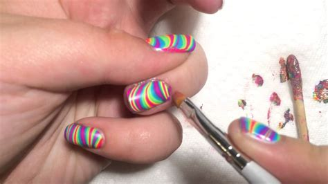 tutorial nail art pakai air how to do nail polish water marbling nail ftempo