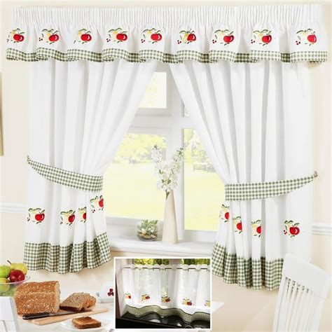 fruit curtains fruit colourful green voile cafe net curtain panel kitchen