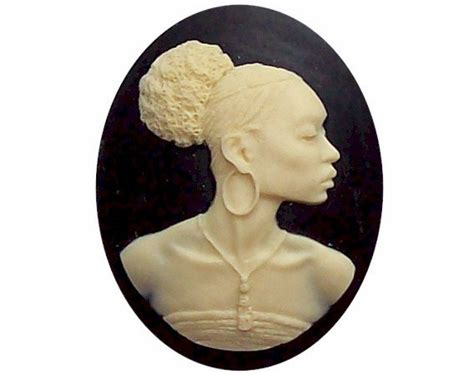 Afro Cameo Pendant Necklace By Jewels by 40x30 Silhouette Cameo Africa Supply American