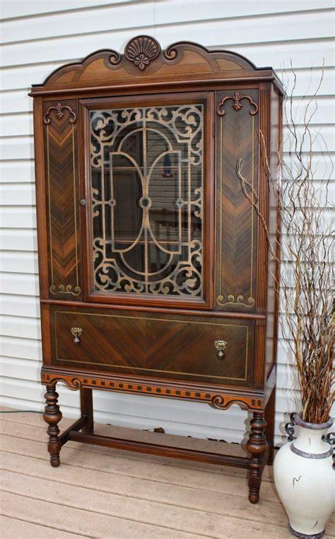 vintage black china cabinet refurbished vintage 1920 s china cabinet china cabinets