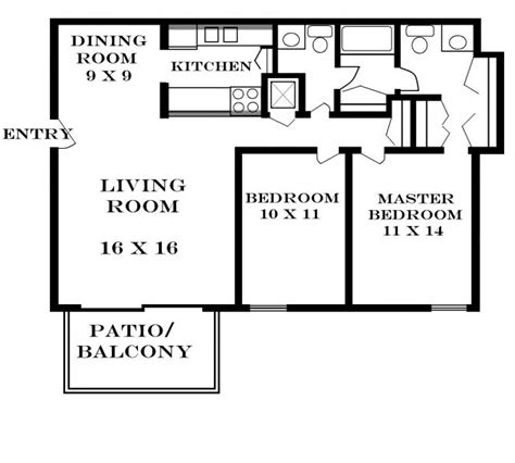 650 sq ft floor plan 2 bedroom 650 square foot 2 bedroom house plans home deco plans