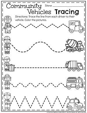 pattern tracing paper south africa community helpers preschool theme preschool tracing