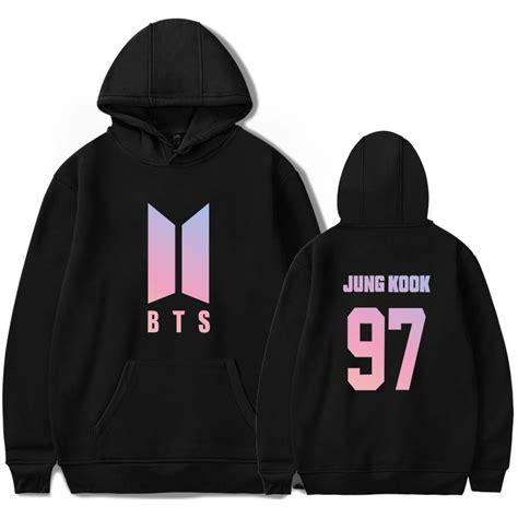 Hoodie Sweater Jumper Biru Jungkook bts yourself gradient hoodie kpop
