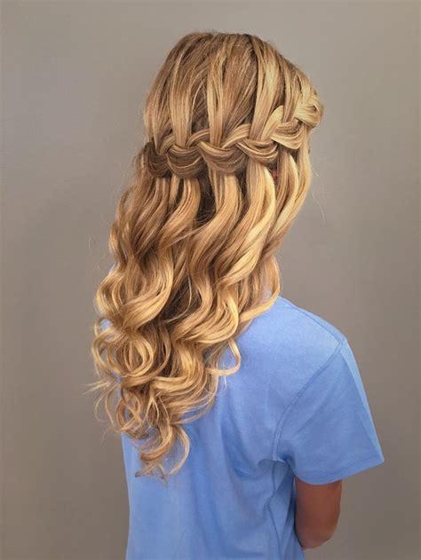 homecoming hair braids instructions best 25 waterfall braid prom ideas on pinterest
