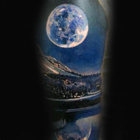 realistic moon tattoo 70 sky tattoos for atmosphere design ideas