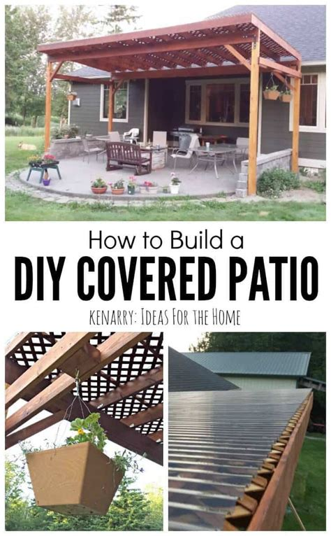 i want to build a house how to build a diy covered patio