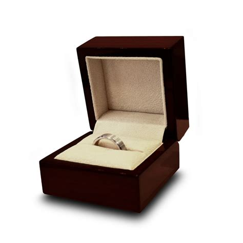 Wedding Box For Rings by Engraved Chocolate Wood Personalized Wooden Wedding