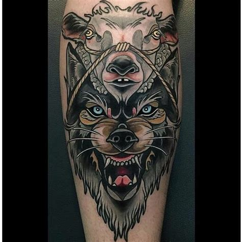 wolf in sheeps clothing tattoo 12 cunning wolf in sheep s clothing tattoos tattoodo
