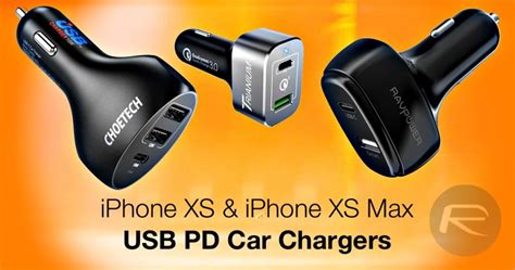 iphone  xs max usb  pd car charger  fast charging