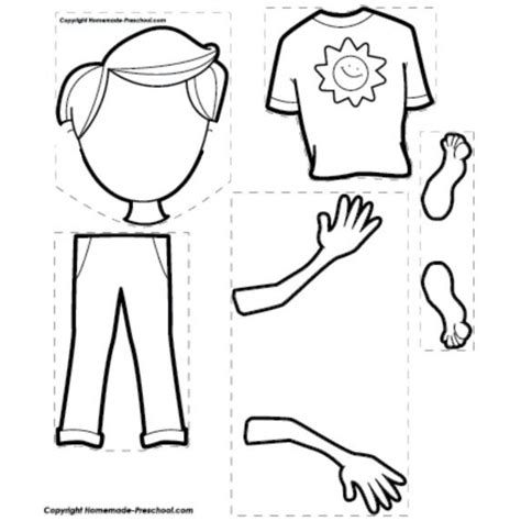 printable body puzzle 10 best printable worksheet for preschool images on