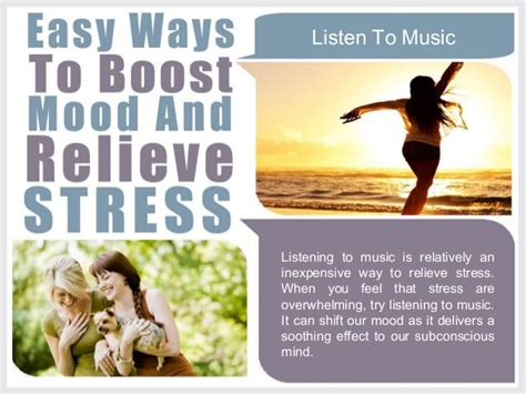 8 Songs To Soothe A Bad Mood by Easy Ways To Boost Mood And Relieve Stress