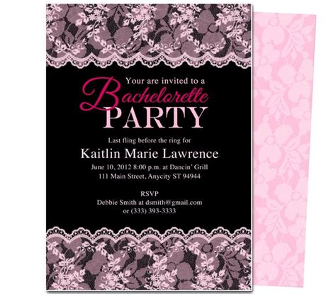 bachelorette invitations free template printable diy bachelorette invitations boudoir