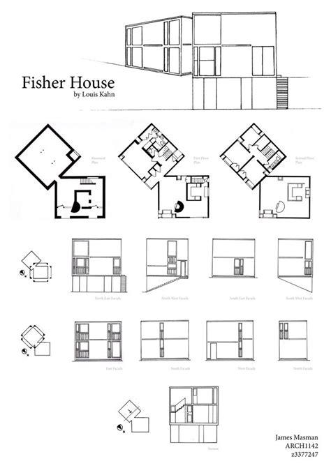 louis kahn floor plans fisher house buscar con google louis kahn pinterest