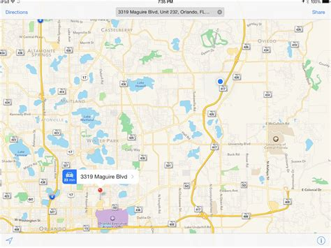 apple maps how to use alternative apps to navigate to an address from