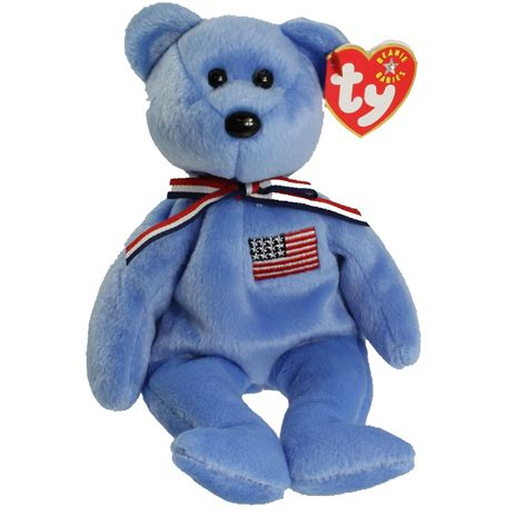 ty beanie baby america the bear blue version 8 5 inch bbtoystore com toys plush