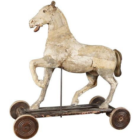 large wooden vine horse sculpture vintage home warehouse 18th century french horse pull toy at 1stdibs