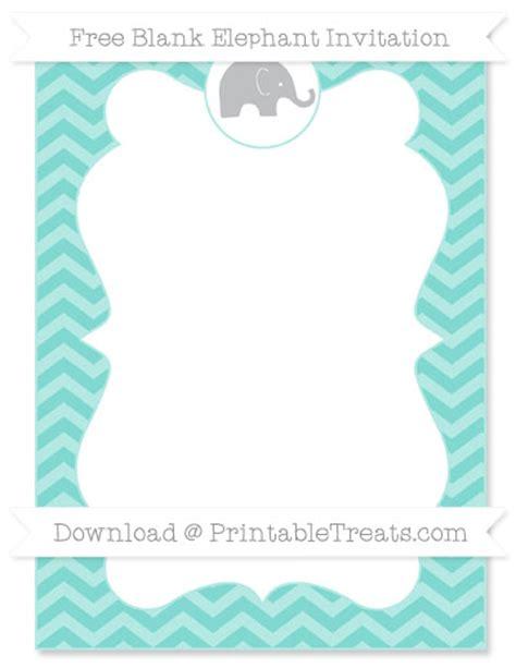 chevron printable invitation template free tiffany blue chevron blank elephant invitation