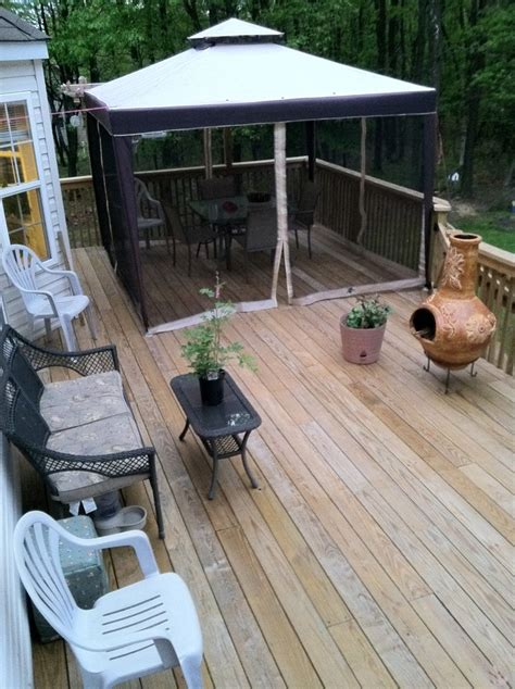 chiminea seating area summer living deck shade plenty of seats and a