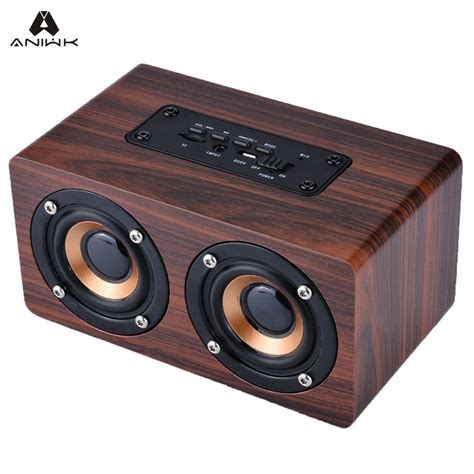 Diskon Speaker Bluetooth Bass Portable Wireless Usb Port aniwk retro wood wireless bluetooth speaker portable
