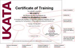 Moving And Handling Certificate Templates by Ukata Uk Asbestos Association