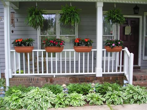 banister planters railing planters yellow metal oval railing planter