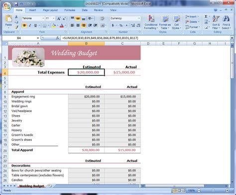 Wedding Budget Planner Spreadsheet Uk by Wedding Budget Spreadsheet Uk Wedding Spreadsheet Template
