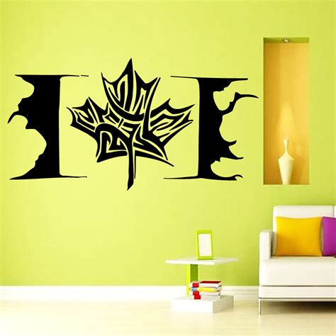 pattern wall decals canada hot sale maple leaf wall decal modern design canada flag