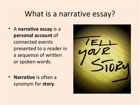 What Is A Narrative Essay by Essay 2 Narrative Essay