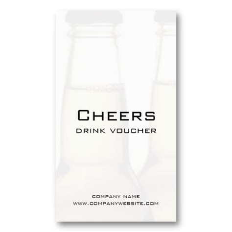 free drink card template restaurant or brewery drink voucher cards