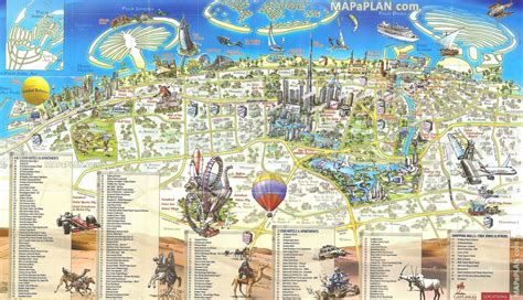 map of tourist attractions dubai top tourist attractions map map pictures