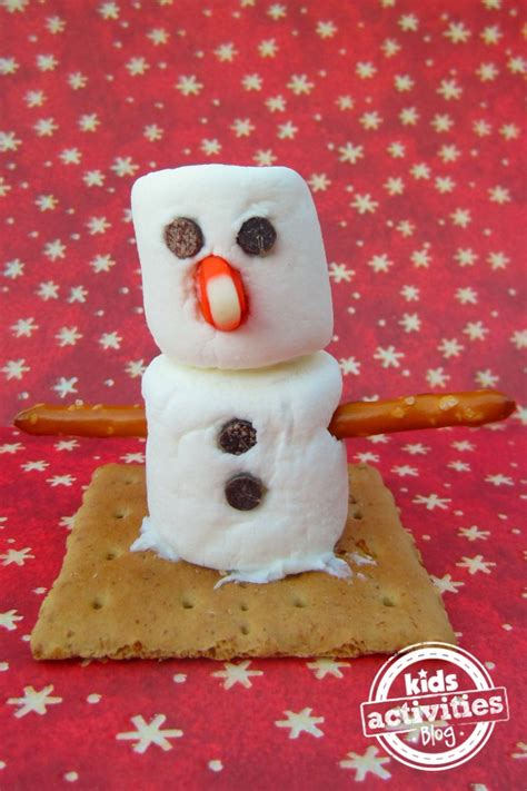 marshmallow crafts for xmas make a marshmallow snowman activity
