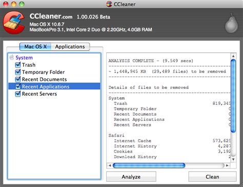ccleaner x mac ccleaner for mac 1 14 free download downloads freeware
