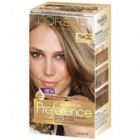 loreal preference medium ash blonde review youtube l oreal preference 7 1 2a medium ash blonde haircolor wiki