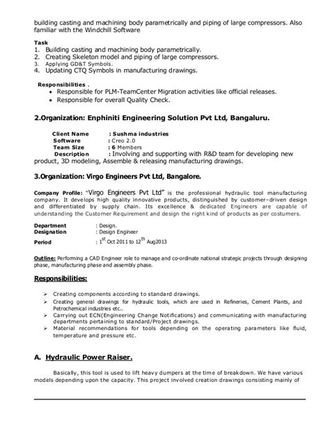 teamcenter project manager resume 28 images engineering change request template