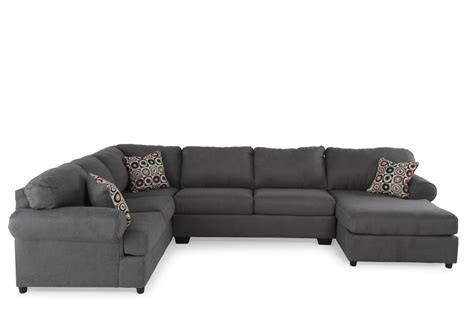 ashley 3 piece sectional ashley jayceon three piece sectional mathis brothers