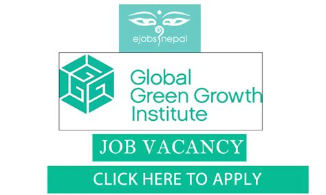 Global Green Mba by Vacancy In Global Green Growth Institute