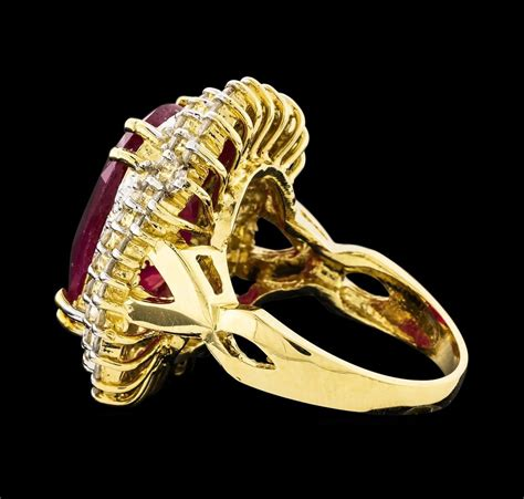 3 45ct Ruby 14kt yellow gold 13 45ct ruby and ring
