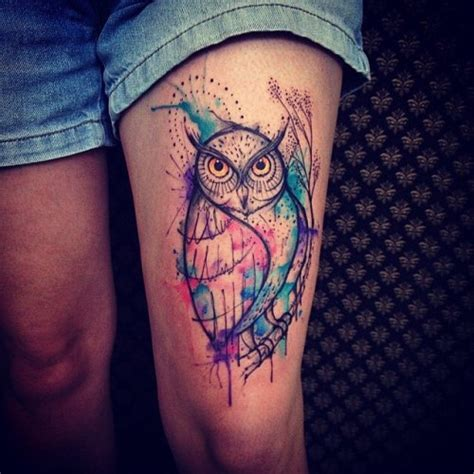 owl thigh tattoos 50 owl design ideas with unique meanings fmag