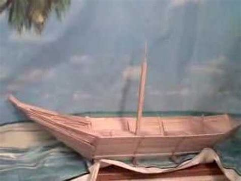how to make a egyptian boat out of paper ss popsicle sticks youtube