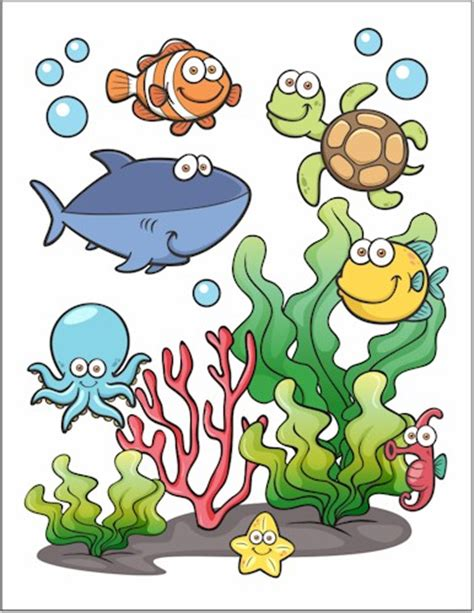 Underwater Wall Stickers under the sea printable fun family crafts