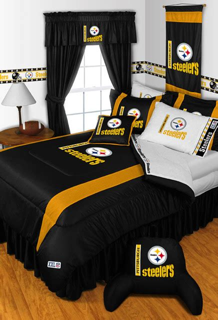 nfl pittsburgh steelers bedding and room decorations