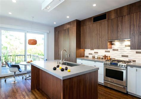 walnut kitchen cabinets modern contemporary kitchen walnut oak wood veneer