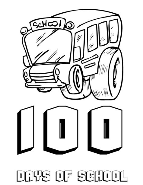 100 Day Pictures To Color New Calendar Template Site Day Of School Coloring Page