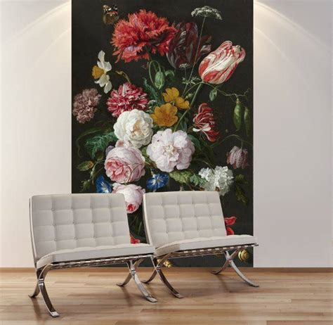 Vase Of Flowers Jan Davidsz De Heem Fotobehang Stilleven Met Bloemen In Een Glazen Vaas Jan