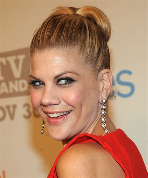 Kristen Johnston Updo Long Straight Formal Wedding Updo
