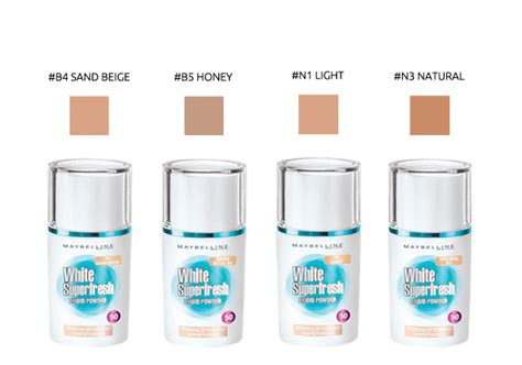 Maybelline White Fresh maybelline white superfresh liquid powder 25ml 4 types to choose hermo shop