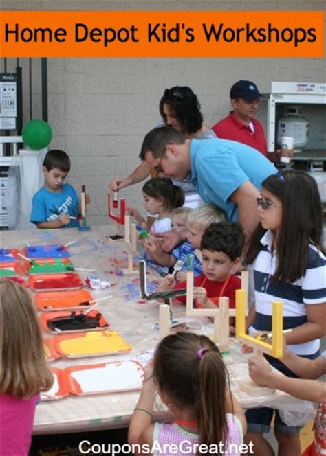 tips for attending a home depot or lowe s kid s workshop