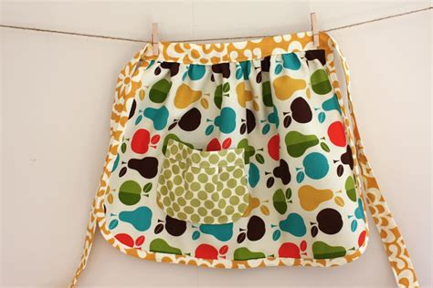 pattern for simple half apron child s gathered apron tutorial