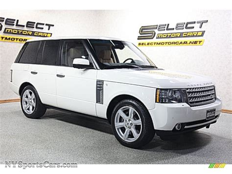 land rover supercharged white 2010 land rover range rover supercharged autobiography in
